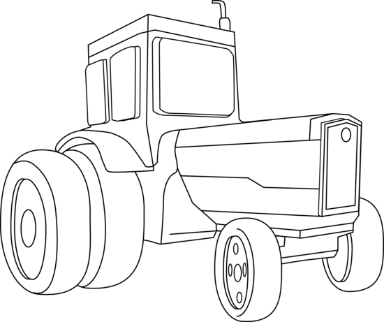Tractor clipart black and white #13