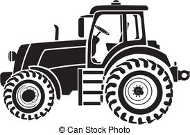 Tractor clipart black and white #6