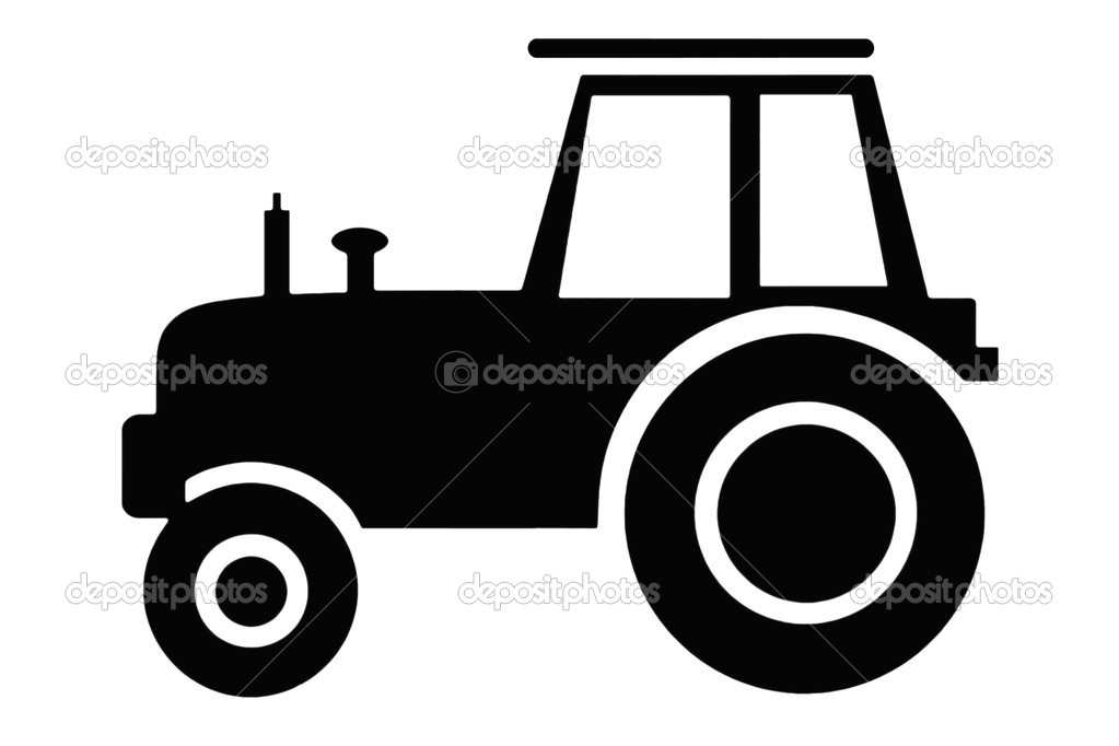 Tractor clipart black and white #10