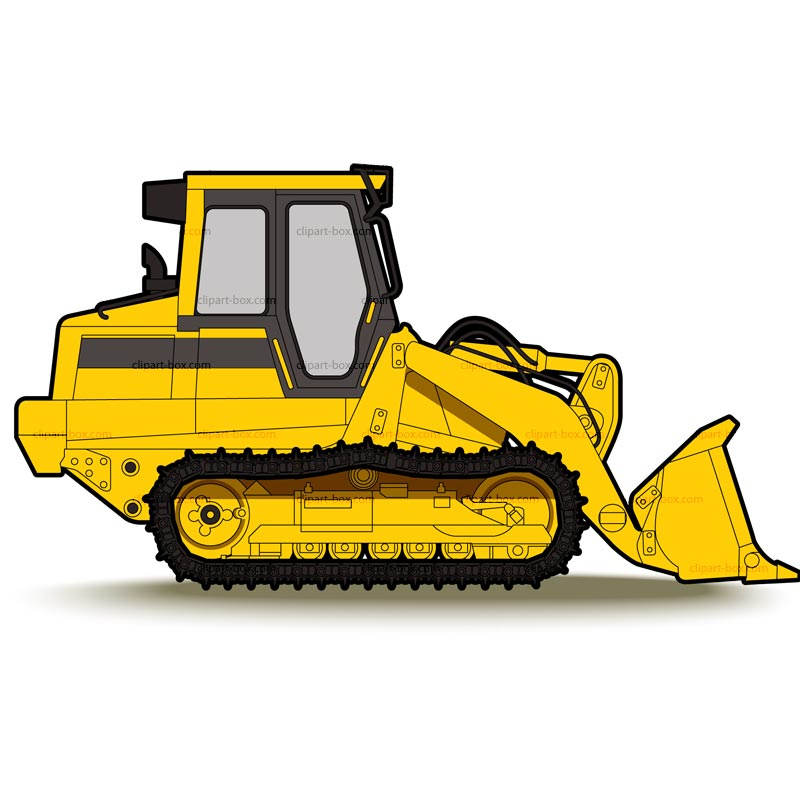 Yellow clipart backhoe Source Cat clipart pic Bulldozer