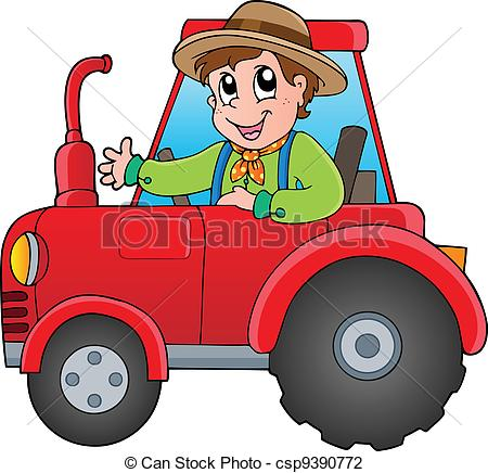Tractor clipart child #4
