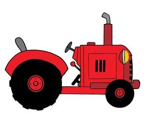 Tractor clipart farm tractor #9
