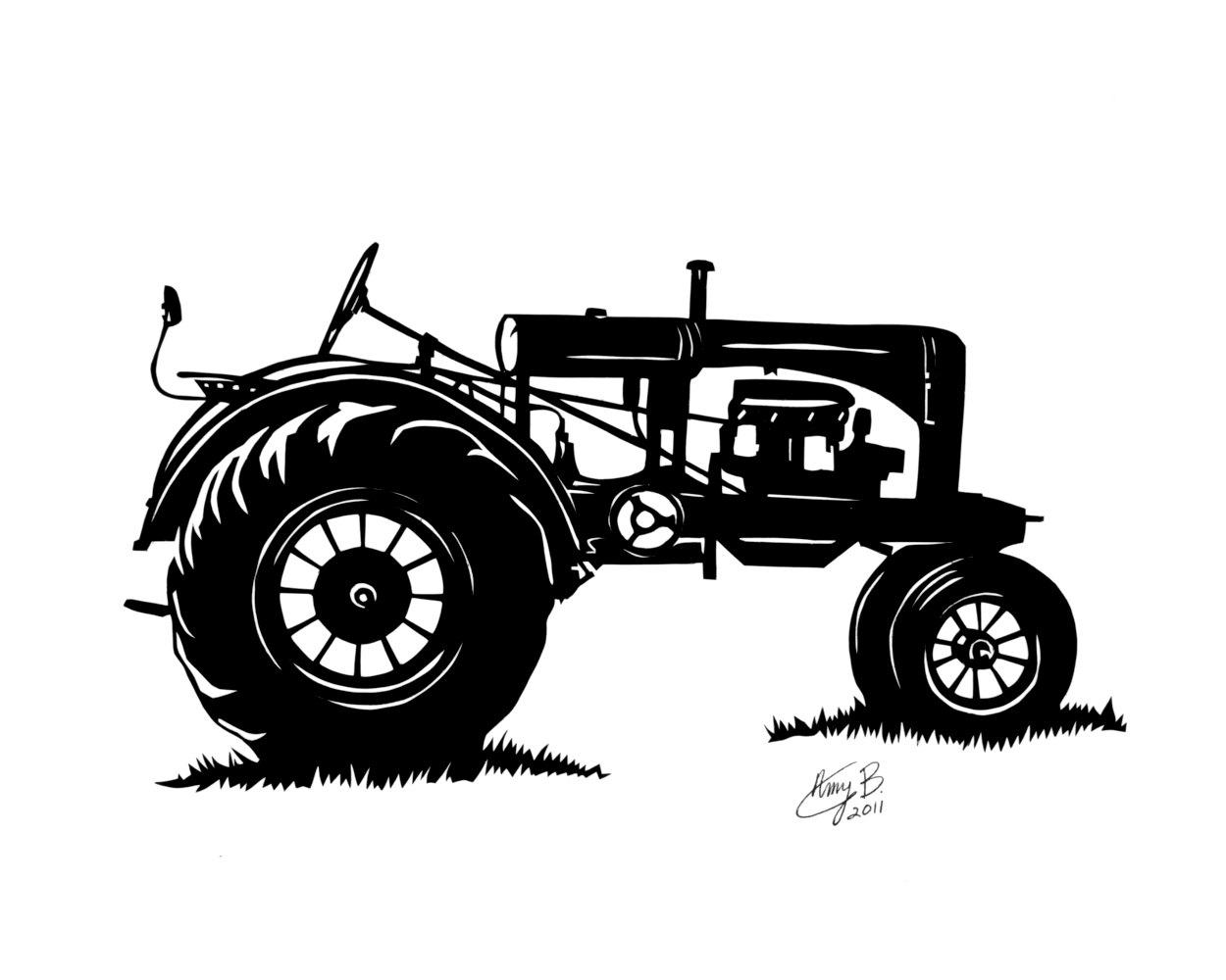 Tractor clipart farmall tractor #15