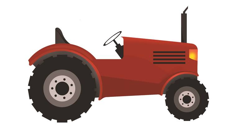 Tractor clipart indian tractor #6