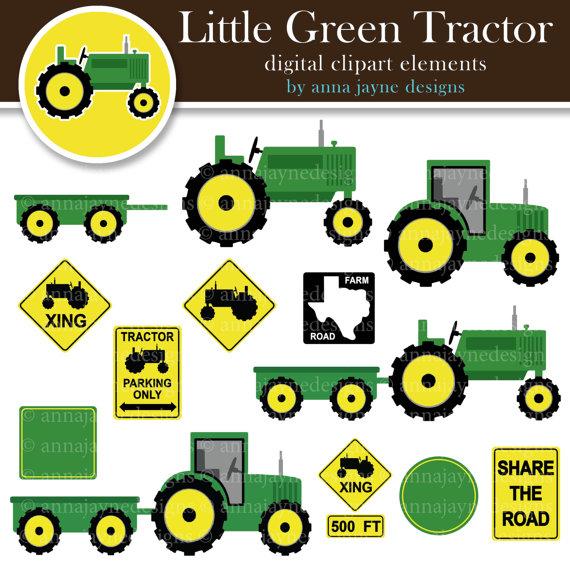 Tractor clipart little green #2