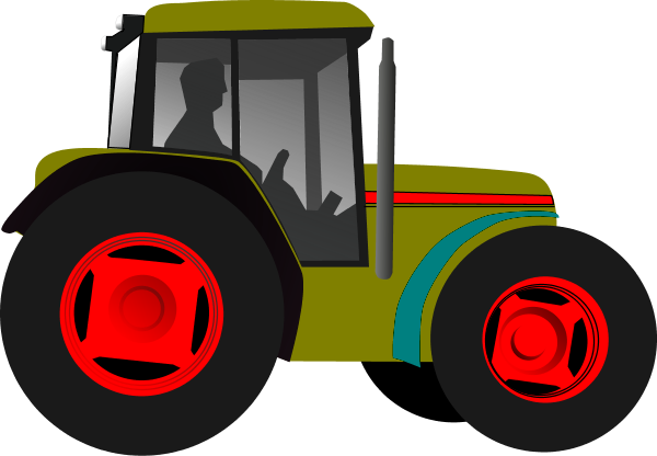 Tractor clipart little green #5