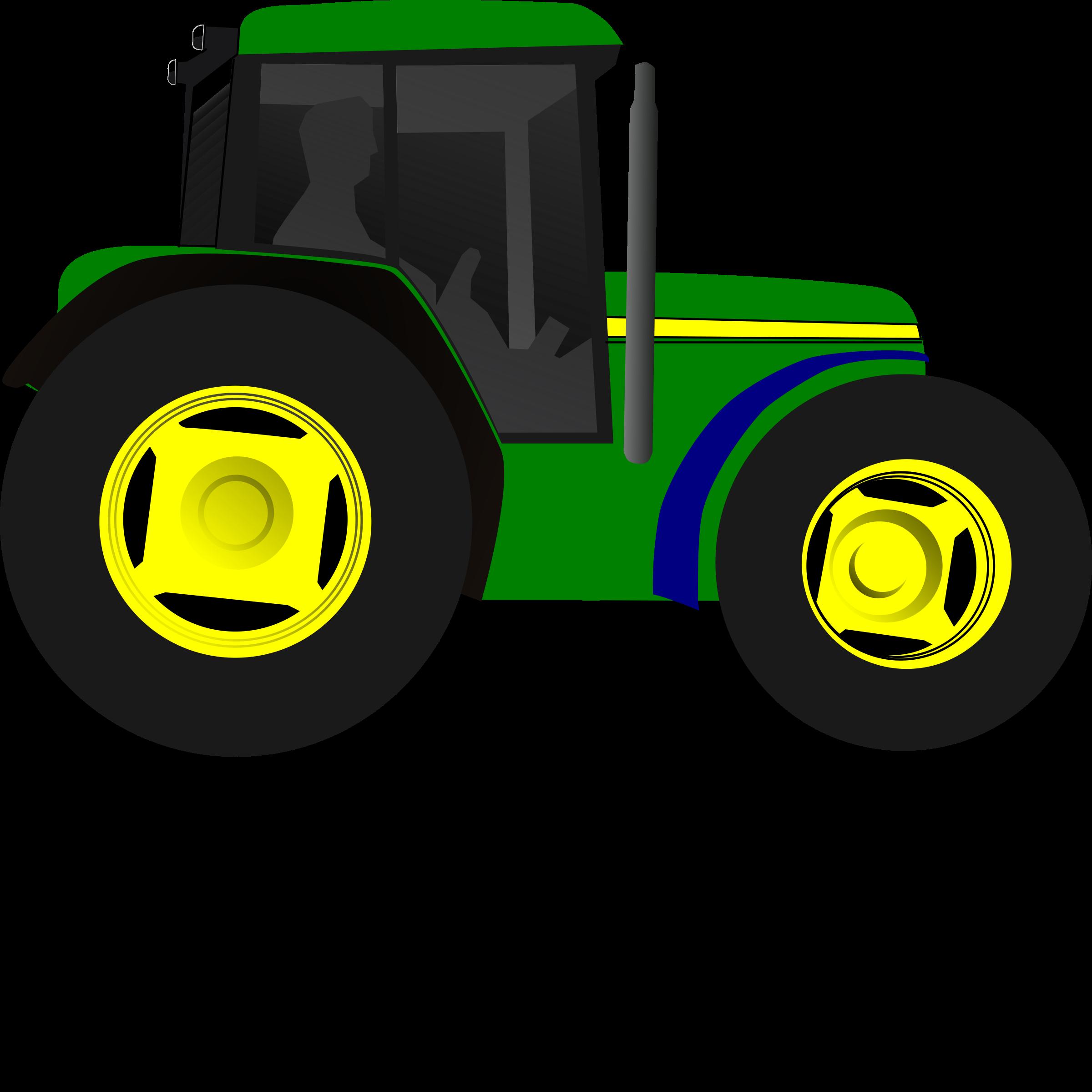 Tractor clipart little green #7