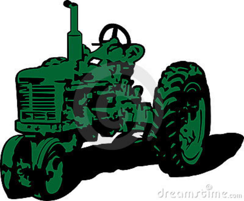 Tractor clipart little green #8