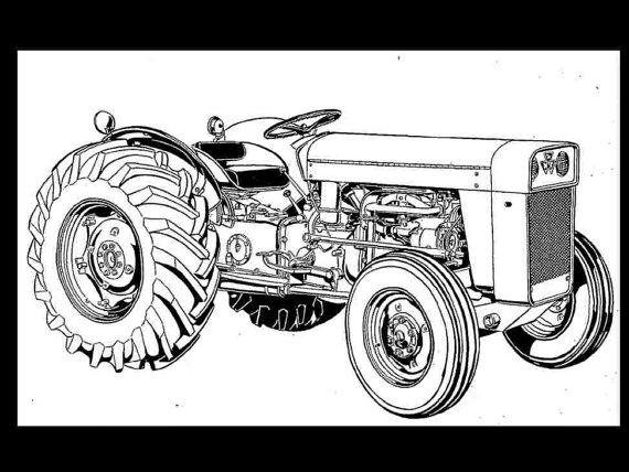 Tractor clipart massey #4