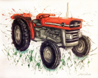 Tractor clipart massey #11