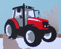 Tractor clipart massey #7