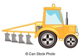 Tractor clipart plow #8
