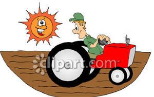 Tractor clipart plow #7