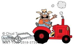 Tractor clipart plow #5