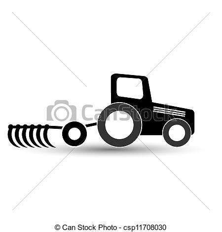 Tractor clipart plow #2