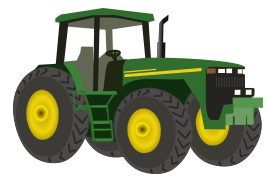 Tractor clipart transparent background #4