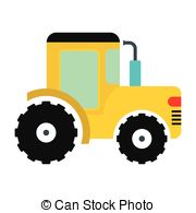 Tractor clipart yellow tractor #6