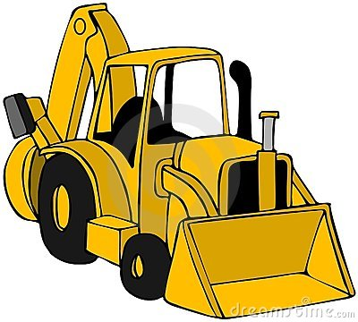 Tractor clipart yellow tractor #9