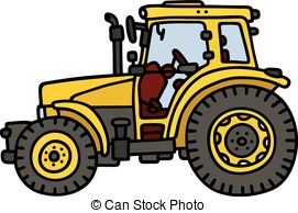 Tractor clipart yellow tractor #7