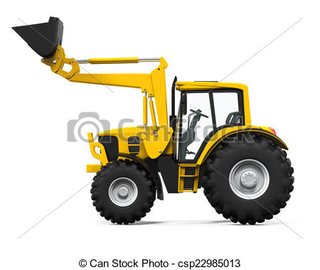 Tractor clipart yellow tractor #5