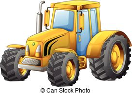 Tractor clipart yellow tractor #3