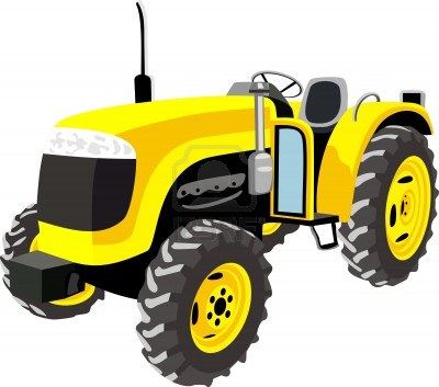 Tractor clipart yellow tractor #4