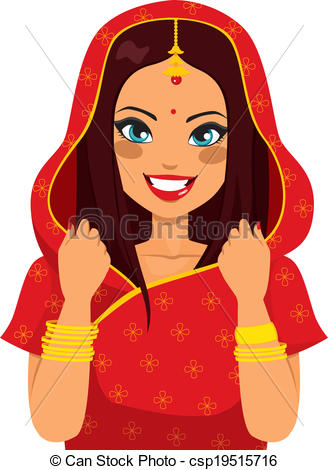 Brunette clipart woman manager Of csp19515716 Indian brunette Woman