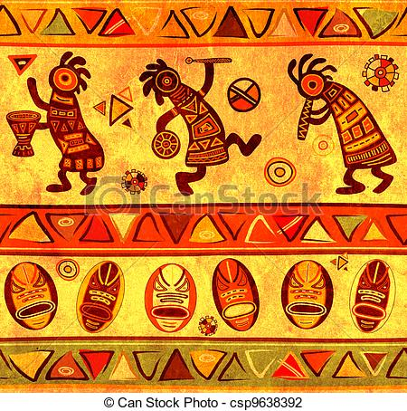 Traditional clipart african culture Art patterns with african Seamless