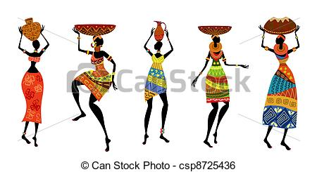 Traditional clipart african culture Vector csp8725436 in traditional African