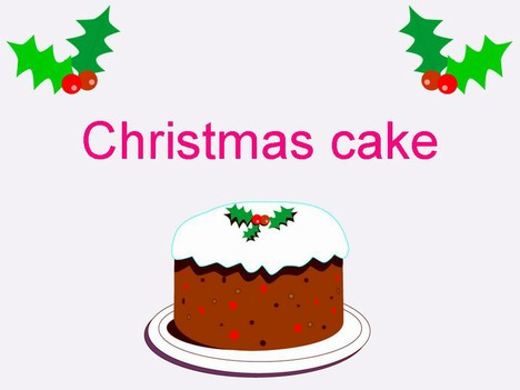 Traditional clipart christmas cake Template Cake Christmas