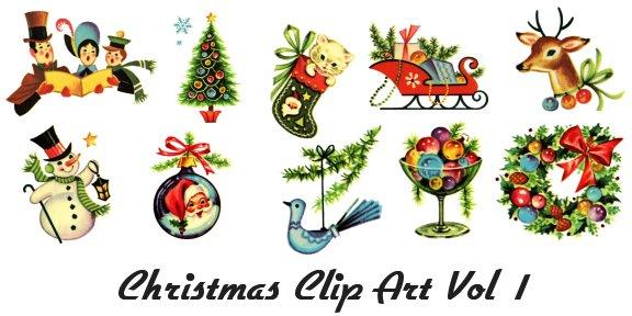Santa clipart vintage #4