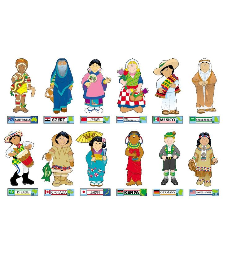 Country clipart different culture Set best board This 12