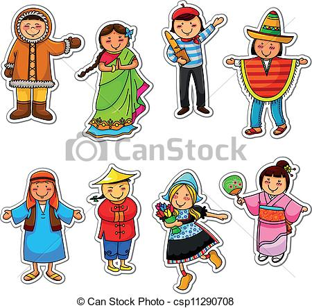 Culture clipart different Ethnic different Vector diversity of