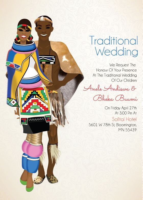 Traditional clipart indian dress 25 Card wedding Traditional Zulu