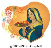 Traditional clipart indian dress People clothes Clipart Vector girl