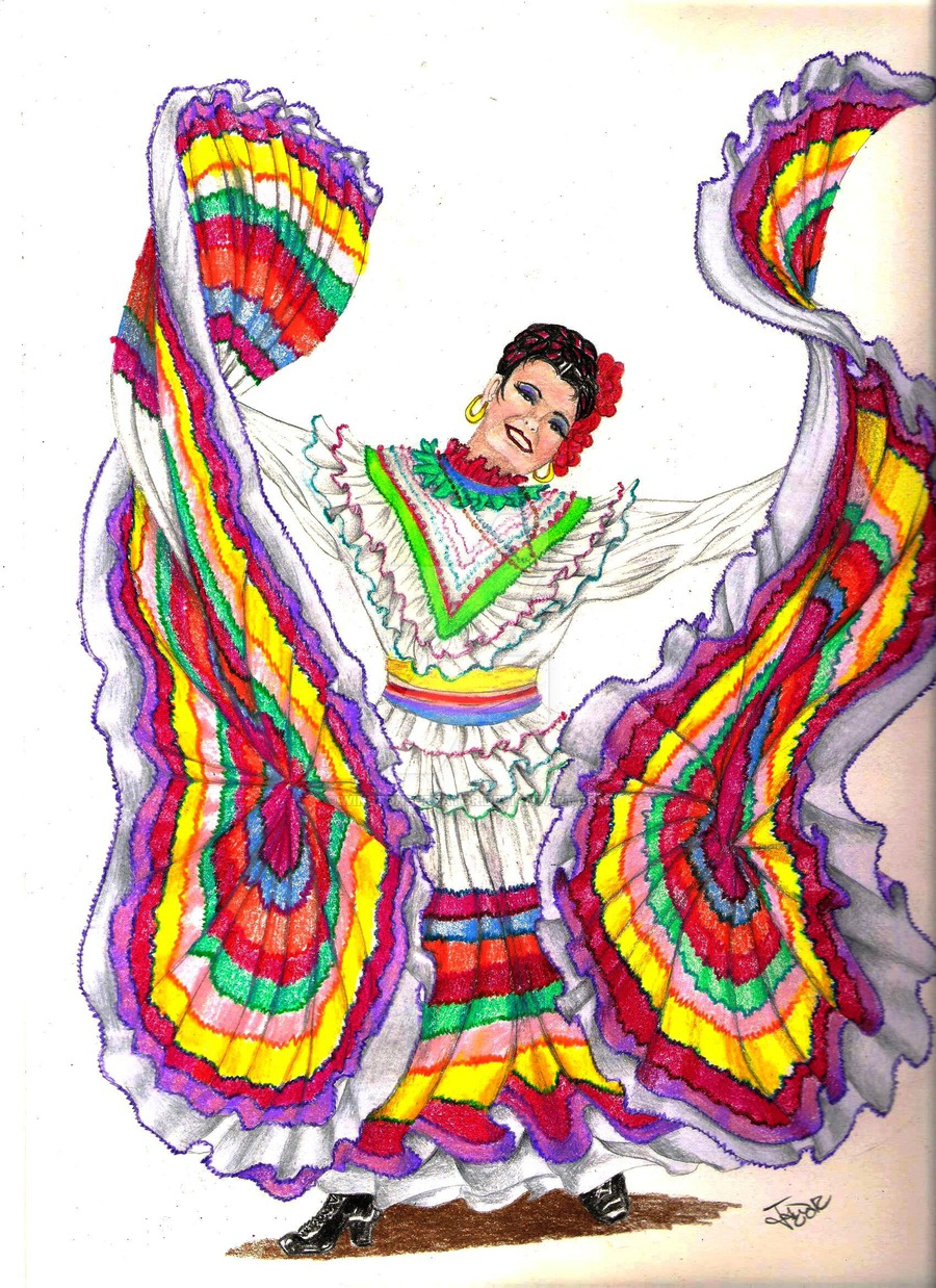 Traditional clipart mexican dancer By winstonscreator winstonscreator by dancer