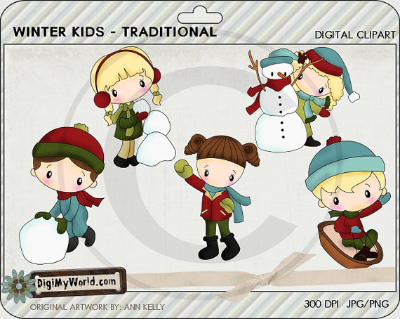 Traditional clipart snowman Snowman toboggan the traditional Kids