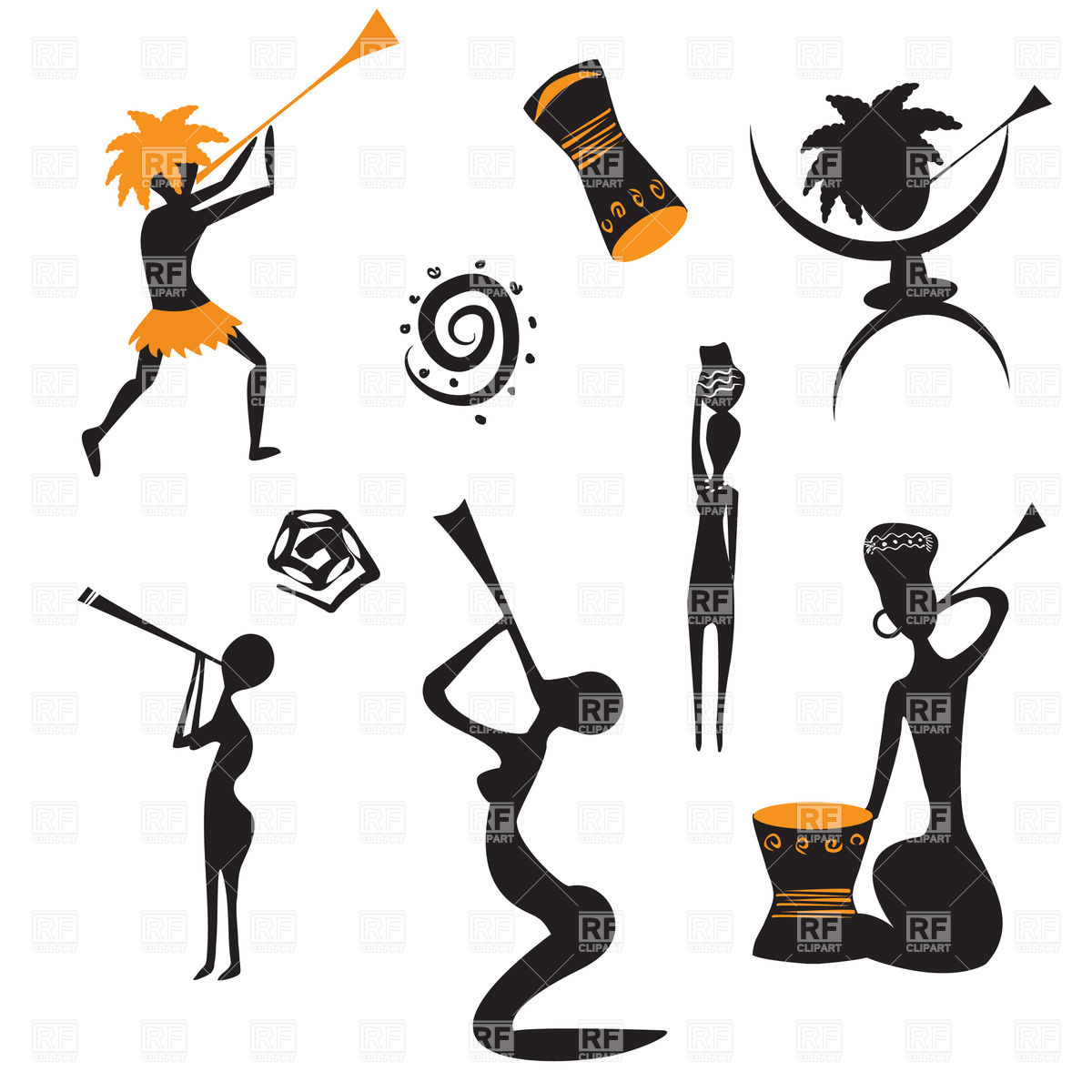 Abstract clipart dancer 21167 african Abstract Vector on