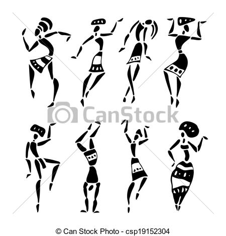 Traditional clipart west african dance Clipart silhouette silhouette csp19152304 African