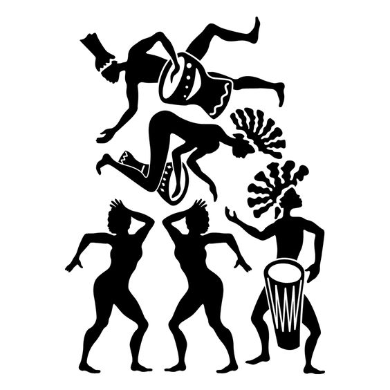 Traditional clipart west african dance Silhouette Dance Cliparts  African
