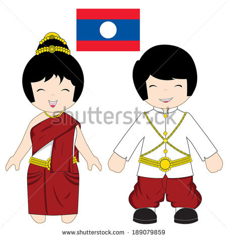 Traditional clipart national costume Costume Download Traditional Lao Traditional