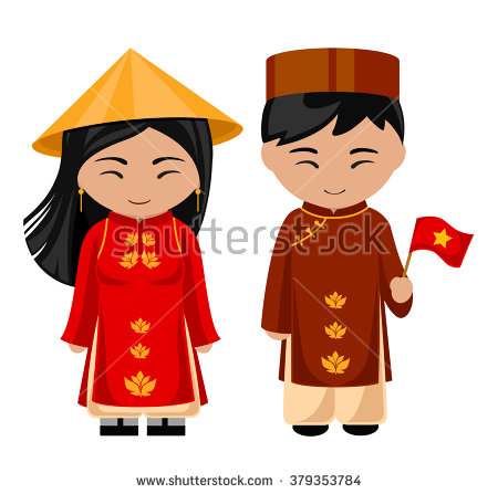 Vietnam clipart ao dai In with  dress a