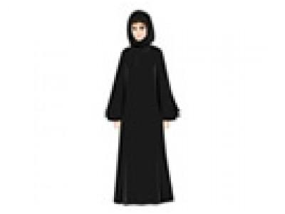 Traditional Costume clipart abaya Woman in  Arab Abaya