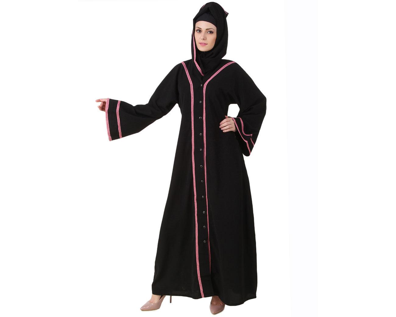 Traditional Costume clipart abaya Black Muslim dress Abaya Maxi