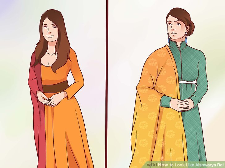 Traditional Costume clipart ancient india (with Rai Like Aishwarya Pictures)