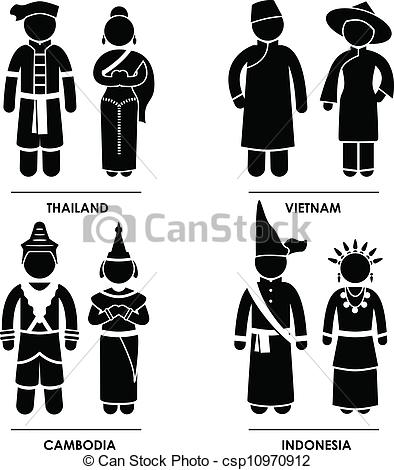 Vietnam clipart clothes A of csp10970912 Southeast Costume