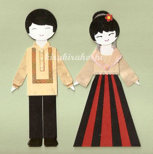 Phillipines clipart japanese boy (Set of Couple BOY Topper