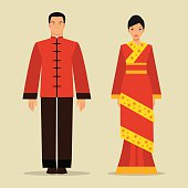 Traditional Costume clipart chinese woman Oriental and Chinese national Traditional