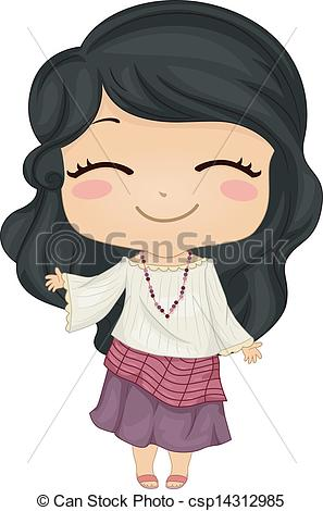 Philipines clipart philippine national costume #5