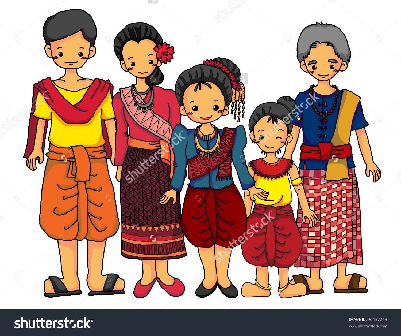 Traditional Costume clipart filipino farmer Traditional dla family Cambodian